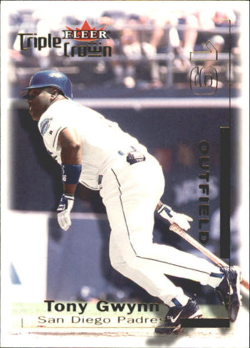 2001 Fleer Triple Crown #220 Tony Gwynn