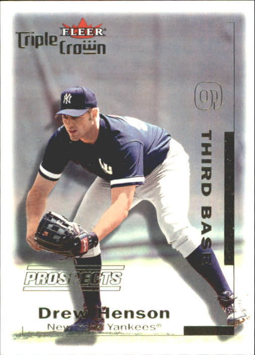2001 Fleer Triple Crown #302 Drew Henson/2999 RC