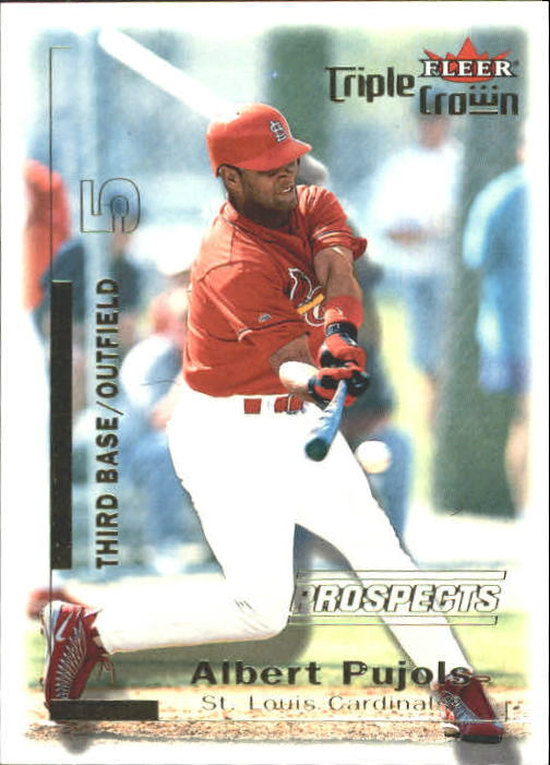 2001 Fleer Triple Crown #309 Albert Pujols/2999 RC