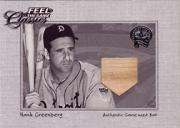 2001 Greats of the Game Feel the Game Classics #6 Hank Greenberg Bat SP/300