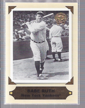 2001 Greats of the Game Retrospection #RC1 Babe Ruth