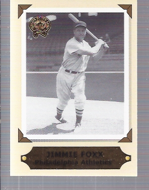 2001 Greats of the Game Retrospection #RC3 Jimmie Foxx