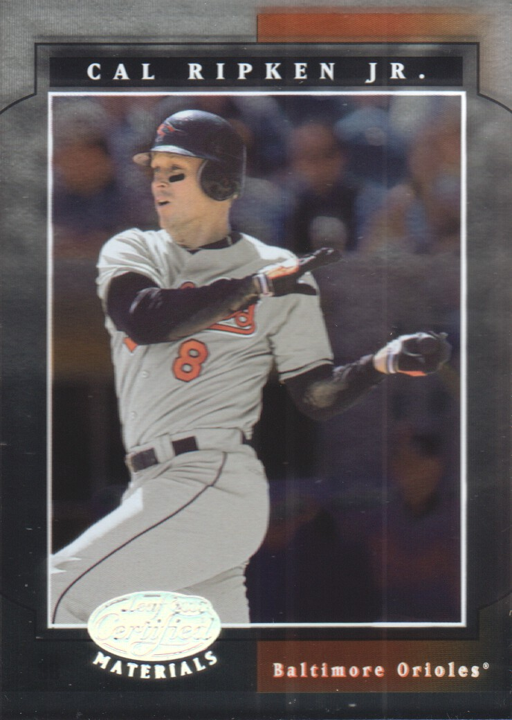 2001 Leaf Certified Materials #3 Cal Ripken