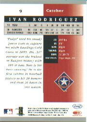 2001 Leaf Certified Materials #9 Ivan Rodriguez back image