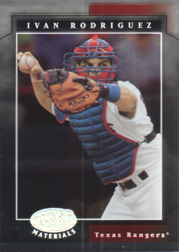 2001 Leaf Certified Materials #9 Ivan Rodriguez