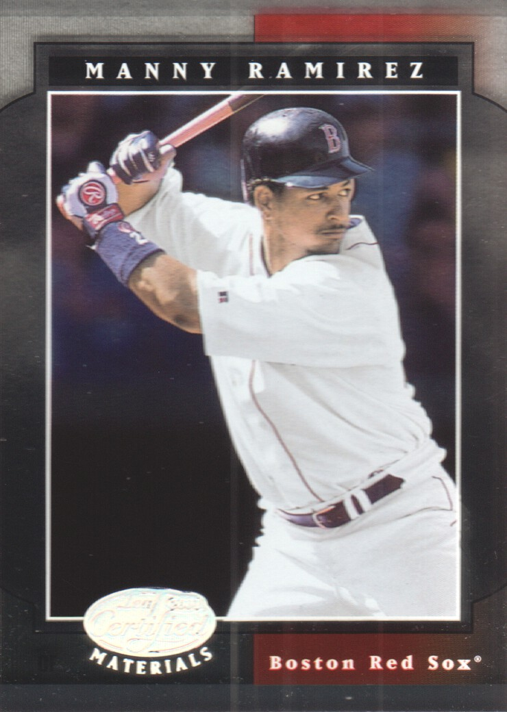 2001 Leaf Certified Materials #14 Manny Ramirez Sox