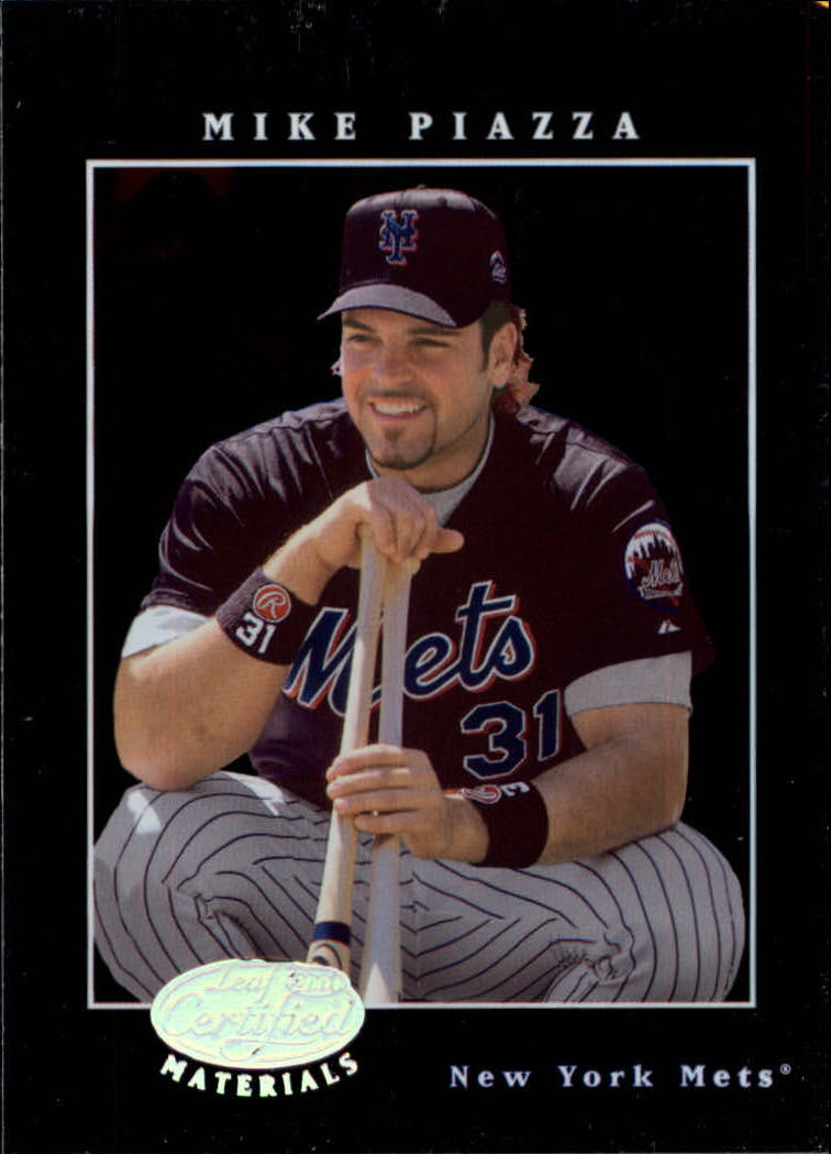 2001 Leaf Certified Materials #16 Mike Piazza