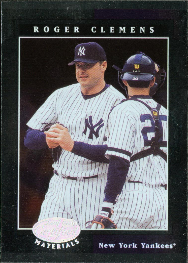 2001 Leaf Certified Materials #22 Roger Clemens