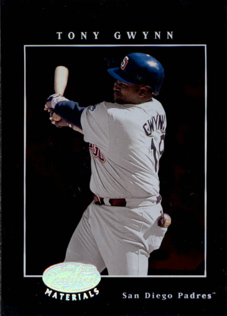 2001 Leaf Certified Materials #24 Tony Gwynn front image