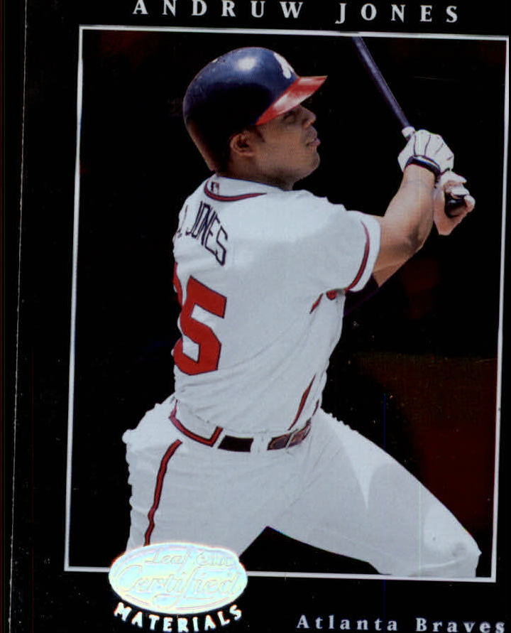 2001 Leaf Certified Materials #41 Andruw Jones