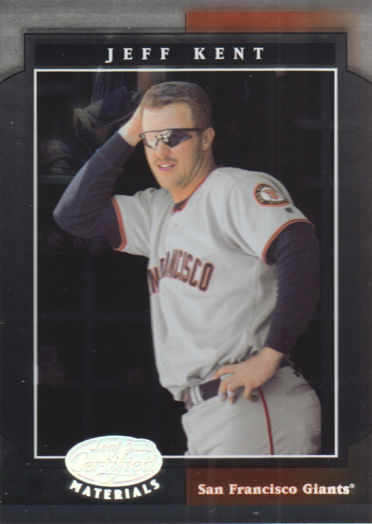 2001 Leaf Certified Materials #42 Jeff Kent