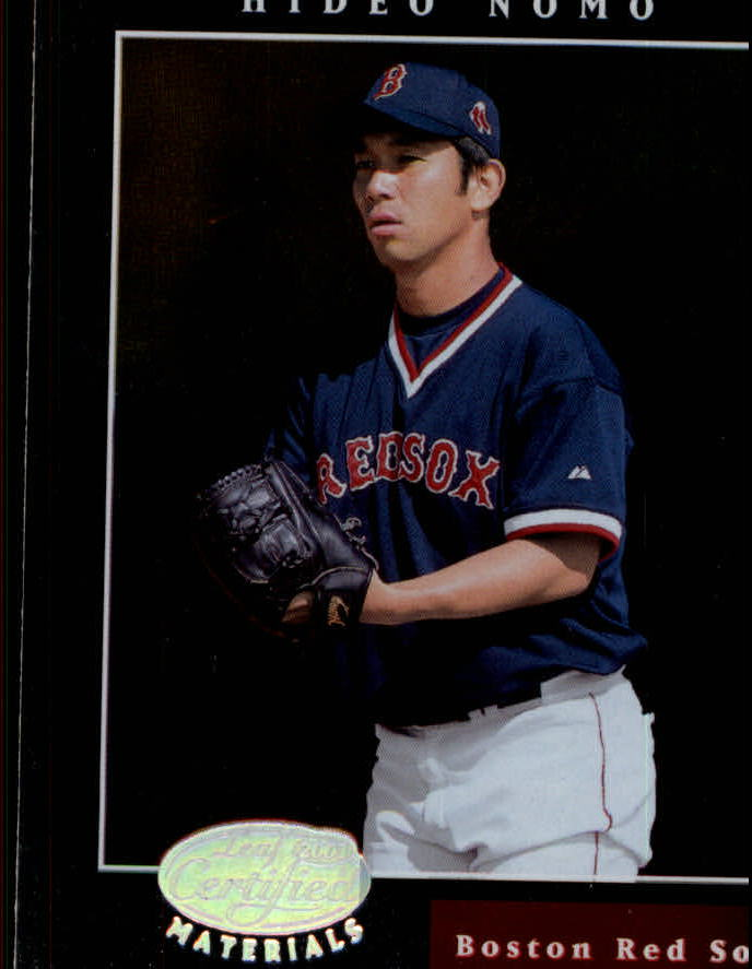 2001 Leaf Certified Materials #46 Hideo Nomo