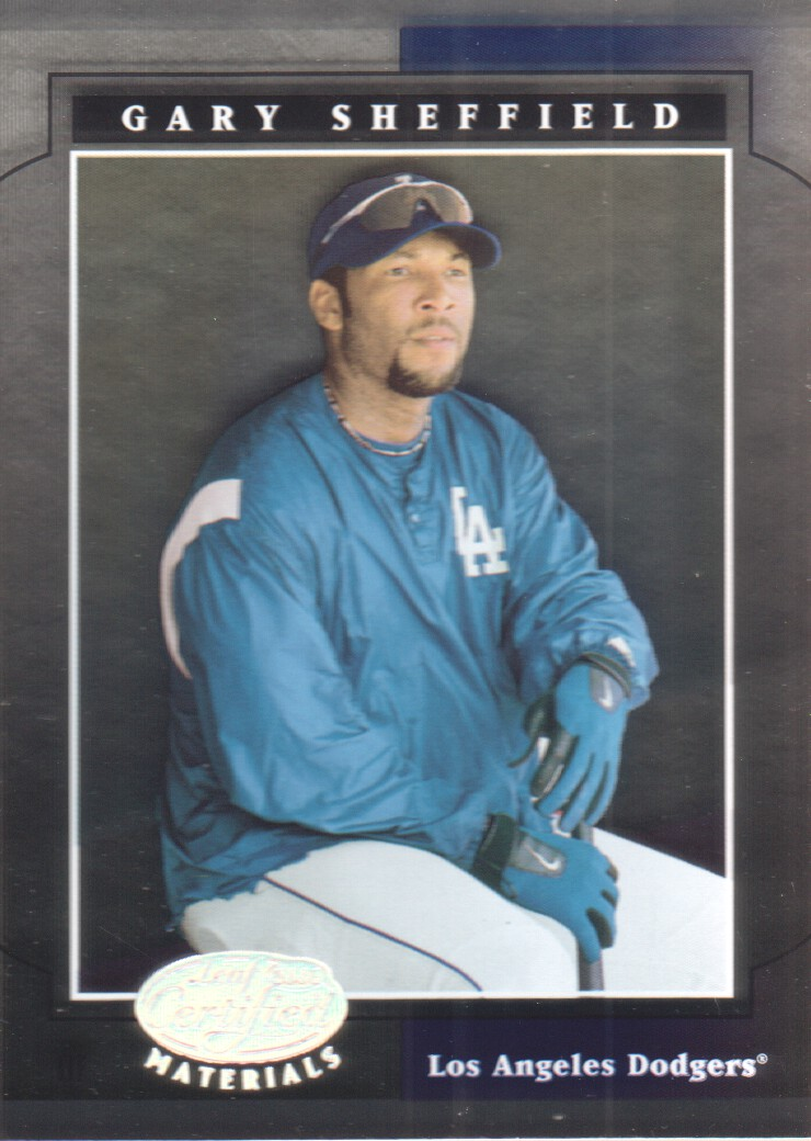 2001 Leaf Certified Materials #49 Gary Sheffield