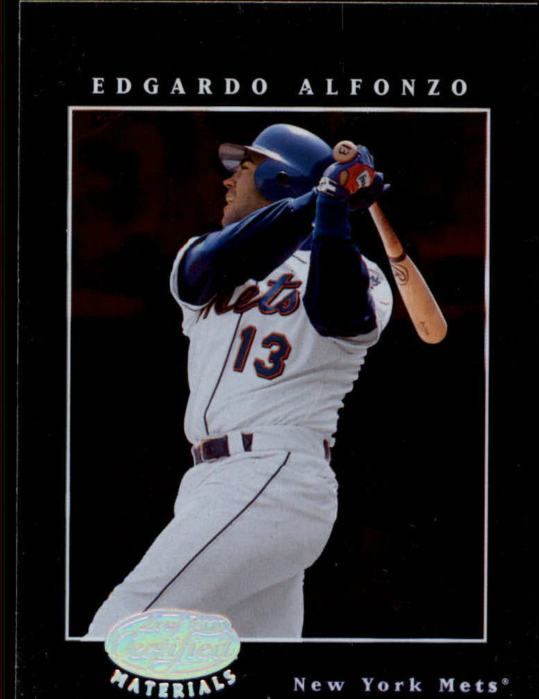 2001 Leaf Certified Materials #52 Edgardo Alfonzo