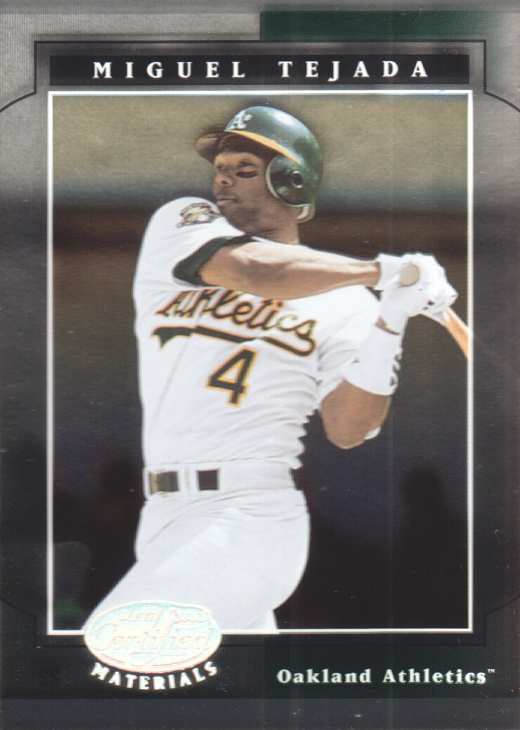 2001 Leaf Certified Materials #77 Miguel Tejada