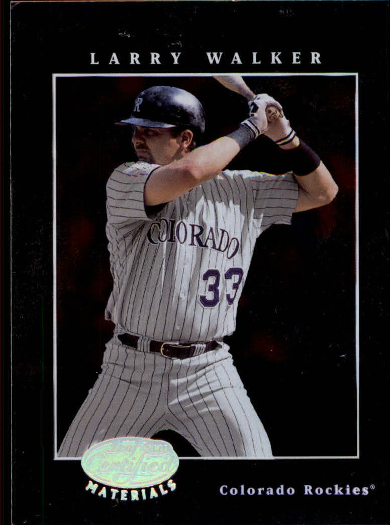 2001 Leaf Certified Materials #79 Larry Walker