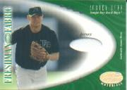 2001 Leaf Certified Materials #136 Aubrey Huff FF Jsy