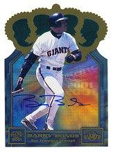 2001 Pacific Gold Crown Die Cuts Autograph #31 Barry Bonds
