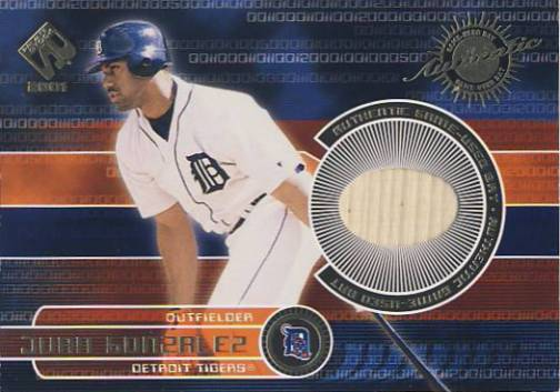 2001 Private Stock Game Gear #70 Juan Gonzalez Bat