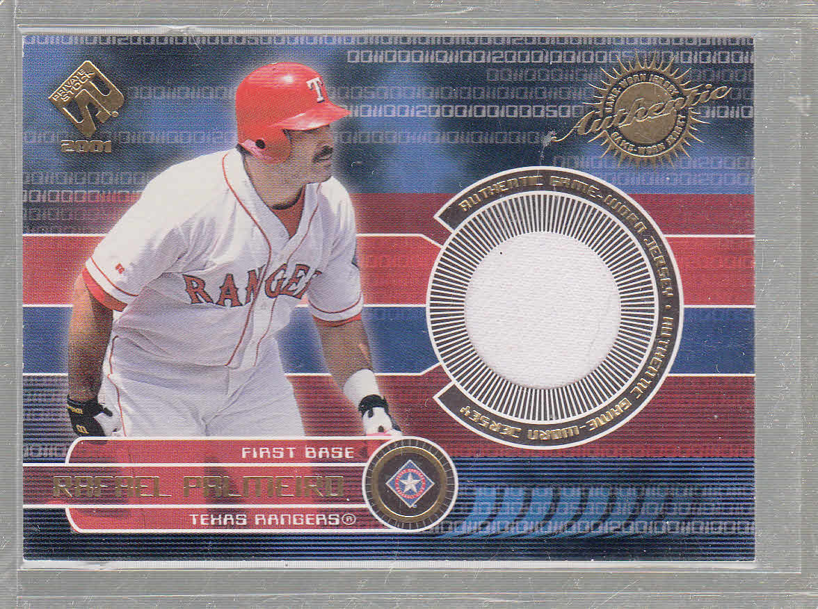 2001 Private Stock Game Gear #174 Rafael Palmeiro Jsy