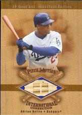 2001 SP Game Bat Milestone Piece of Action International #IAB Adrian Beltre
