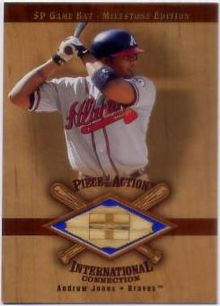 2001 SP Game Bat Milestone Piece of Action International #IAJ Andruw Jones