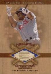 2001 SP Game Bat Milestone Piece of Action International #IJG Juan Gonzalez