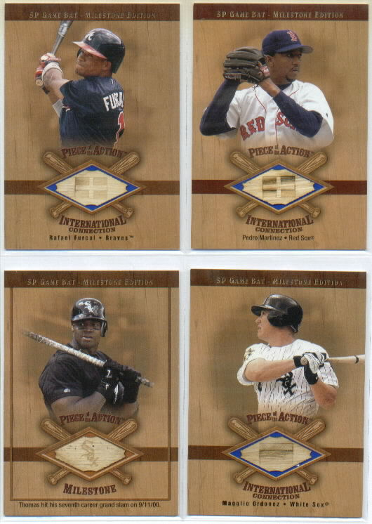 2001 SP Game Bat Milestone Piece of Action International #IRF Rafael Furcal