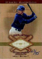 2001 SP Game Bat Milestone Piece of Action International Gold #IIS Ichiro Suzuki