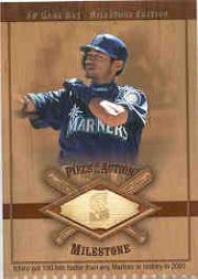 2001 SP Game Bat Milestone Piece of Action Milestone #IS Ichiro Suzuki SP/203