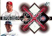 2001 SPx Winning Materials Base Duos #B2MS Mark McGwire/Sammy Sosa