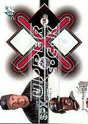 2001 SPx Winning Materials Base Duos #B2PB Mike Piazza/Barry Bonds