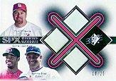 2001 SPx Winning Materials Base Trios #B3MGS McGwire/Griffey/Sosa