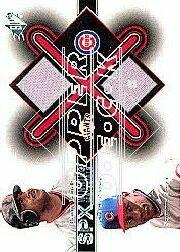 2001 SPx Winning Materials Jersey Duos #BBSS Barry Bonds/Sammy Sosa