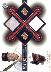 2001 SPx Winning Materials Update Duos #CREM Cal Ripken/Eddie Murray