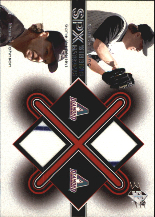 2001 SPx Winning Materials Update Duos #CSRJ Curt Schilling/Randy Johnson