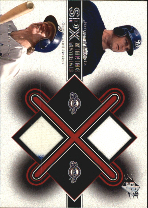 2001 SPx Winning Materials Update Duos #JBRY Jeromy Burnitz/Robin Yount
