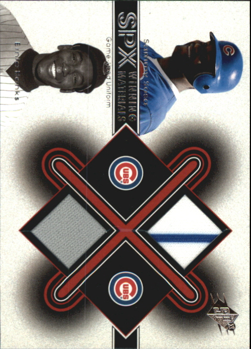 2001 SPx Winning Materials Update Duos #SSEB Sammy Sosa/Ernie Banks