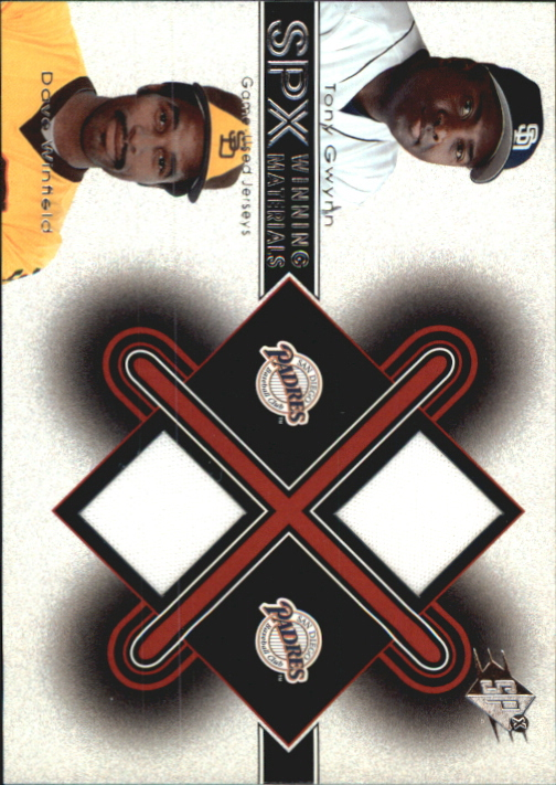 2001 SPx Winning Materials Update Duos #TGDW Tony Gwynn/Dave Winfield
