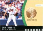 2001 Stadium Club King of the Hill Dirt Relic #KH3 Greg Maddux ERR