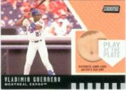 2001 Stadium Club Play at the Plate Dirt Relic #PP3 Vladimir Guerrero