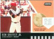 2001 Stadium Club Play at the Plate Dirt Relic #PP4 Ken Griffey Jr. ERR