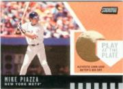 2001 Stadium Club Play at the Plate Dirt Relic #PP5 Mike Piazza