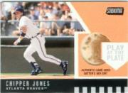 2001 Stadium Club Play at the Plate Dirt Relic #PP6 Chipper Jones ERR