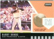 2001 Stadium Club Play at the Plate Dirt Relic #PP7 Barry Bonds