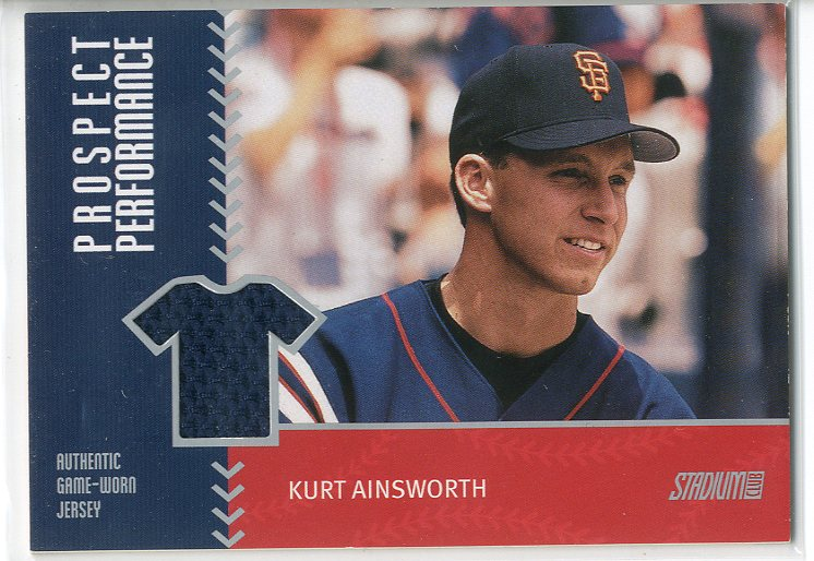 2001 Stadium Club Prospect Performance #PRP4 Kurt Ainsworth