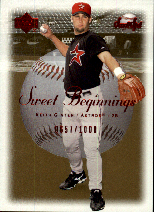 2001 Sweet Spot #73 Keith Ginter SB