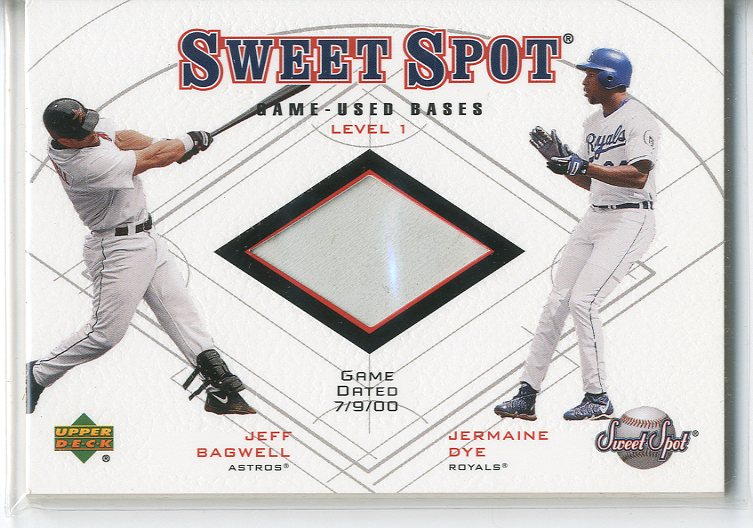 2001 Sweet Spot Game Base Duos #B1BD Jeff Bagwell/Jermaine Dye