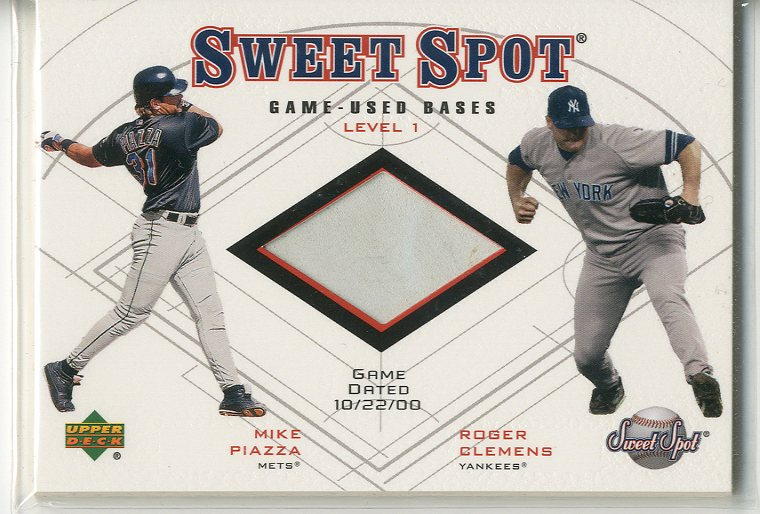 2001 Sweet Spot Game Base Duos #B1CP Roger Clemens/Mike Piazza