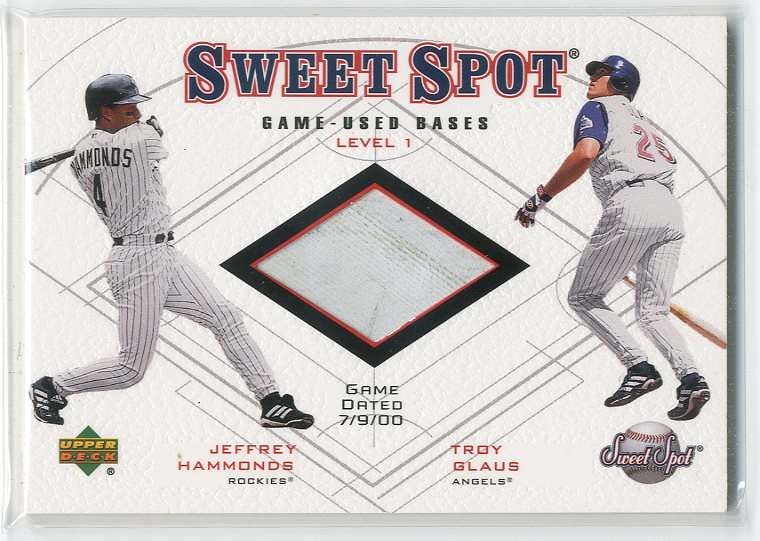 2001 Sweet Spot Game Base Duos #B1HG Jeffrey Hammonds/Troy Glaus